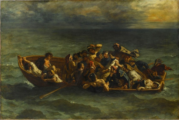 Eugène Delacroix, <em>The Shipwreck of Don Juan</em>. 1840. Oil on canvas, 53 1/8 x 77 3/16 inches. Photo: Gerard Blot. Musée du Louvre, Paris, Gift of Adolphe Moreau, 1883. © RMN-Grand Palais / Art Resource, NY. Photo: Gerard Blot.