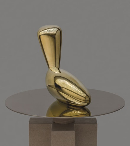 Constantin Brancusi, <em>Léda (Leda)</em>, 1926. Polished bronze, 21 1/4 x 27 1/2 x 9 1/2 inches, Edition of 5, cast by Susse Fondeur, Paris in 2016. © Succession Brancusi, all rights reserved/Artists Rights Society (ARS), New York/ADAGP, Paris. Courtesy Estate of Constantin Brancusi.