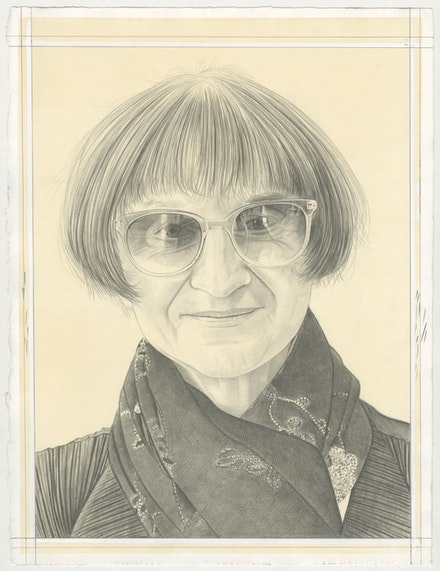 Portrait of Petah Coyne, pencil on paper by Phong Bui.