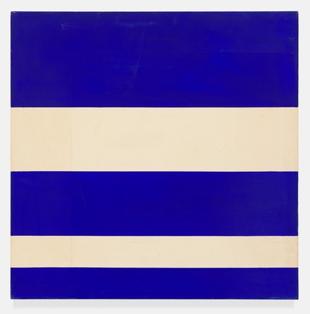 Paul Mogensen, no title, 1967, Acrylic on unprimed canvas, 36 × 36 inches. courtesy the artist and Karma, New York