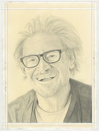 Portrait of Keith Sonnier, pencil on paper by Phong Bui.