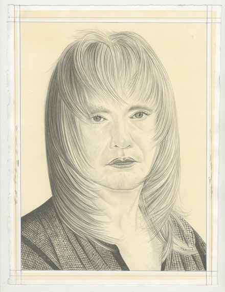 Portrait of Jane County, pencil on paper by Phong Bui.
