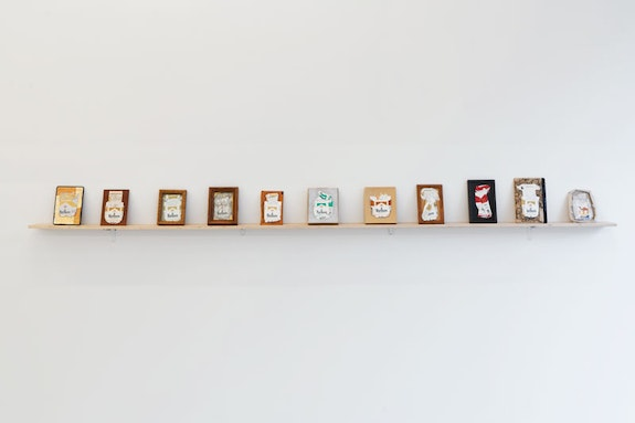 Colter Jacobsen, <em>Fags for Joe & Bill</em>, 2018. Found cigarette boxes, frames, Dimensions variable. Courtesy the artist and Callicoon Fine Arts, NY.