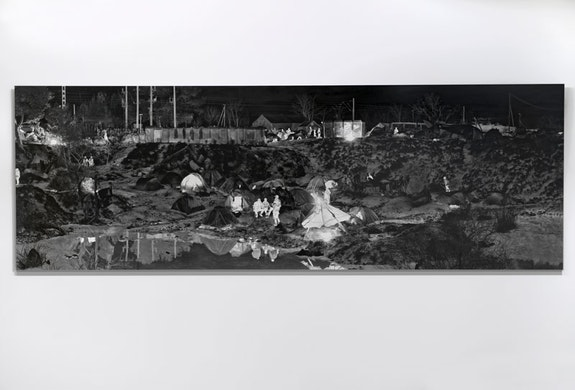 Richard Mosse, <em>Idomeni Camp, Greece,</em> 2016. Digital c-print on metallic paper. © Richard Mosse. Courtesy of the artist and Jack Shainman Gallery, New York.