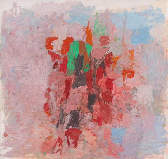 Philip Guston, <em>Dial</em>, 1956.&nbsp;Oil on canvas, 182.9 x 194 cm. Whitney Museum of American Art. Photo: Whitney Museum, N.Y. &copy; The Estate of Philip Guston, courtesy Hauser &amp; Wirth.