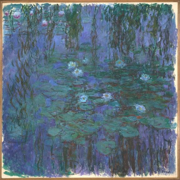 Claude Monet, <em>Nymphéas bleus</em>, 1916-1919.Oil on canvas, 204 x 200 cm. Musée d'Orsay,Paris. Photo © Musée d'Orsay, Dist. RMN-Grand Palais / Patrice Schmidt.
