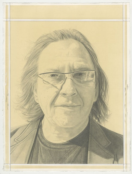 Portrait of Richard Timperio, pencil on paper by Phong Bui.