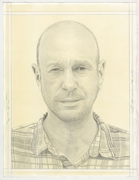 Portrait of Benjamin Pritchard, pencil on paper by Phong Bui.