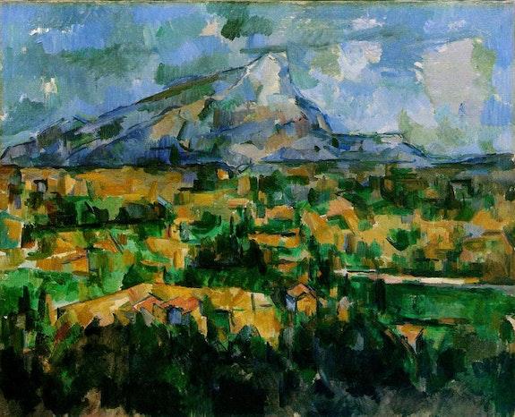 Paul Cézanne, <em>Mont Sainte-Victoire</em> (1904-1906). Oil on canvas, 28 3/4 x 36 3/16 inches. Courtesy of Philadelphia Museum of  Art, Philadelphia, PA.