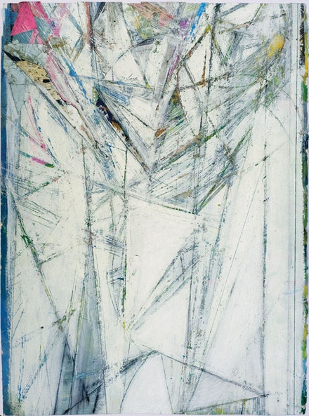 Martin Cohen, <em>Untitled</em>. Oil and collage on paper, 20 x 26 inches. Courtesy of Fountain Gallery, NY.