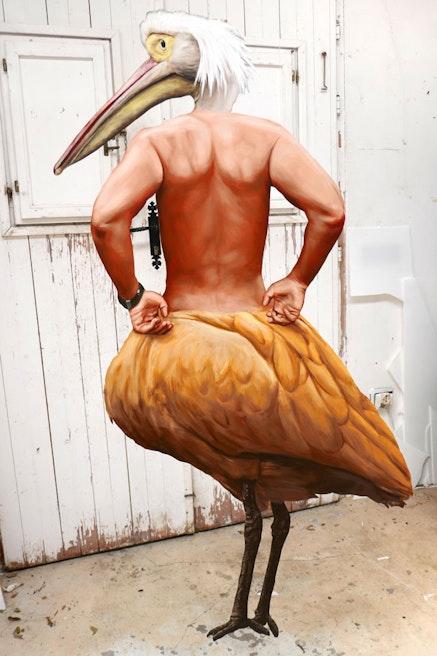 <em>Birdmanpelican,</em> 2018. Image courtesy the artist.