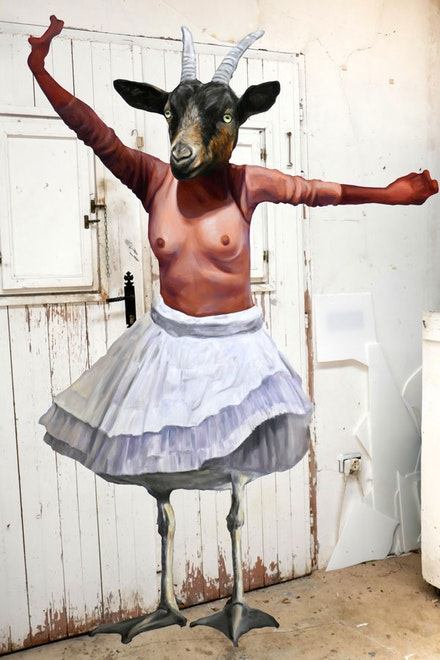 <em>Gullballerinagoat</em>, 2018. Image courtesy the artist.