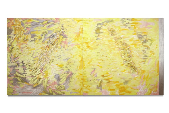 Judith Murray, <em>Panorama</em>, 2014. Oil on linen, 72 x 151 inches. Courtesy Sundaram Tagore Gallery.