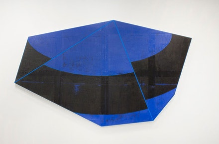 David Row, <em>Counter Clockwise</em>, 2018 .Oil on canvas, 65 x 110 inches. Courtesy Loretta Howard Gallery.