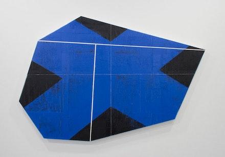 David Row, <em>Shift</em>, 2018. Oil on canvas, 40 x 60 inches. Courtesy Loretta Howard Gallery.