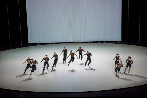 <p><em>The Six Brandenburg Concertos</em> at Park Avenue Armory. Choreographed by Anne Teresa De Keersmaeker and performed by Rosas. Photo: Stephanie Berger.</p>