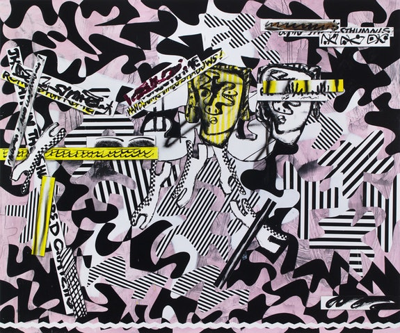 <p>Charline von Heyl, <em>The Language of the Underworld</em>, 2017. Acrylic, charcoal on linen</p>