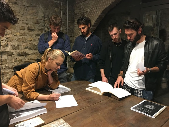 <em>Fifteen People Select Their Favorite Book</em>, 2017, Spoleto, Italy. Image courtesy Jo Melvin.