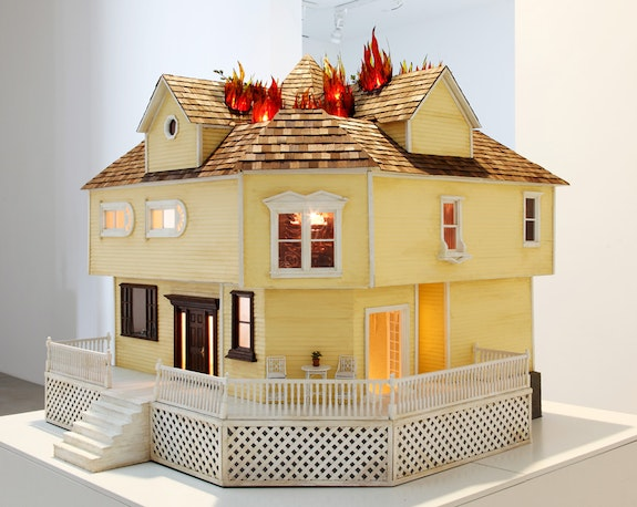 Sarah Anne Johnson, <em>House on Fire</em>, 2009. Mixed media, 31 x 33 x 45 inches. Art Gallery of Ontario, Toronto. © Sarah Anne Johnson.