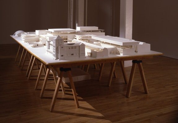 Mike Kelley, <em>Educational Complex</em>, 1995. Acrylic, latex, foam core, fiberglass, and wood, 48 1/16 inches × 32 ft. 1/16 inches × 36 inches. Whitney Museum of American Art, New York. © Mike Kelley Foundation for the Arts. All Rights Reserved/VAGA at ARS, NY.