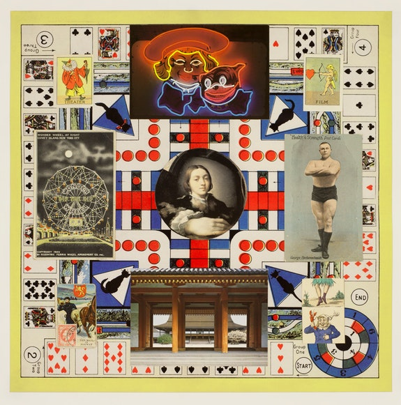 John Ashbery, <em>The Mail in Norway</em>, 2009. Collage, digitized print, 16 1/4 x 16 1/4 inches. © Estate of John Ashbery. Courtesy Tibor de Nagy Gallery, New York.