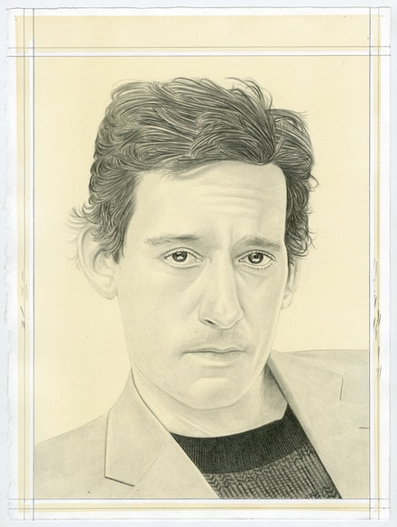Portrait of Seth Price, pencil on paper by Phong Bui.