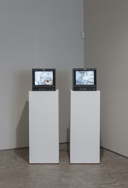 Oscar Muñoz, <em>Re/trato (Portrait)</em>, 2004. Video, 28 minutes. Oscar Muñoz, Línea del Destino (Line of Destiny), 2006. Video, 2 minute loop.
