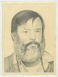 Portrait of Ken Price, pencil on paper by Phong Bui