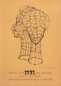 Poster for <em>Rebuttal to the Whitney Museum Exhibition: Black Artists in Rebuttal</em> at Acts of Art Gallery, 1971. RYAN LEE Gallery, New York and Adobe Krow Archives, Los Angeles.