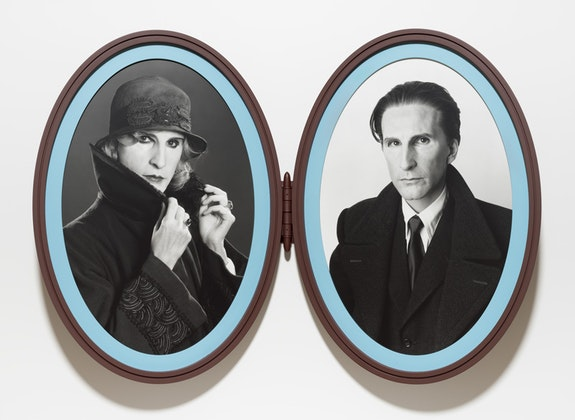 Gillian Wearing, <em>Me as Madame and Monsieur Duchamp</em>, 2018. Bromide prints in articulated frame. © Gillian Wearing. Courtesy the artist, Tanya Bonakdar Gallery, New York / Los Angeles, Maureen Paley, London, and Regen Projects, Los Angeles.