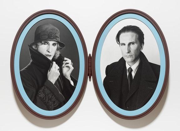 Gillian Wearing, <em>Me as Madame and Monsieur Duchamp</em>, 2018. Bromide prints in articulated frame. © Gillian Wearing. Courtesy the artist, Tanya Bonakdar Gallery, New York / Los Angeles, Maureen Paley, London, and Regen Projects, Los Angeles.