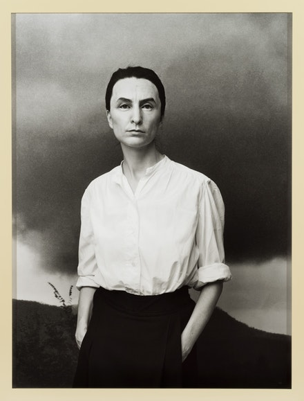 Gillian Waering, <em>Me as O'Keeffe</em>, 2018. Framed bromide print. © Gillian Wearing. Courtesy the artist, Tanya Bonakdar Gallery, New York / Los Angeles, Maureen Paley, London, and Regen Projects, Los Angeles.