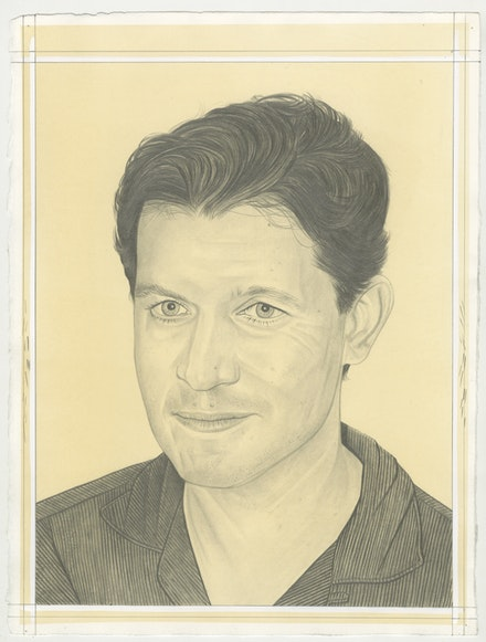 Portrait of James English Leary, pencil on paper by Phong Bui.