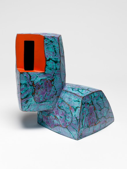 Ken Price, <em>Charley</em>, 1986. Fired and painted clay, 6 1/4 x 7 x 6 3/4 inches. © Estate of Ken Price, Courtesy Matthew Marks Gallery.