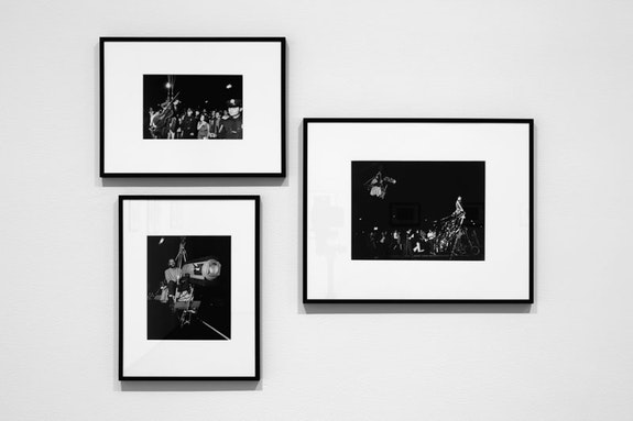 Installation view, <em>Peter Moore: 1968</em>, Paula Cooper Gallery, New York, 2018. Photo: Steven Probert. The photographs show the 6th Annual New York Avant Garde Festival, September 14, 1968.