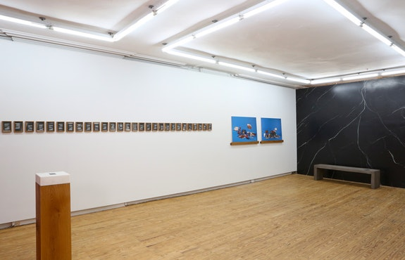 <p>Installation shot of Mahmoud Khaled's<em> I want you to konw that I am hiding something from you</em>, 2018. Courtesy of the artist, Helena Anrather Gallery, New York, and Gypsum Gallery, Cairo.</p>