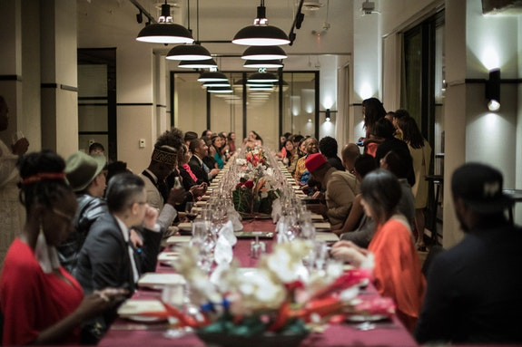 <p>The Color Curtain Project dinner at the Eaton Hotel, Washington D.C., September 29, 2018. Image courtesy of Combing Cotton Co.</p>