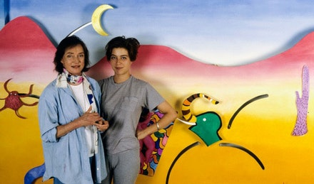 Niki de Saint Phalle and Bloum Carenas. Courtesy the Niki Charitable Art Foundation.