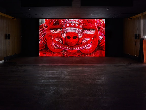"Arthur Jafa, <em>APEX</em> (installation view), 2013. Video, 8'22"", color, sound. Photo: Simon Vogel, Cologne."