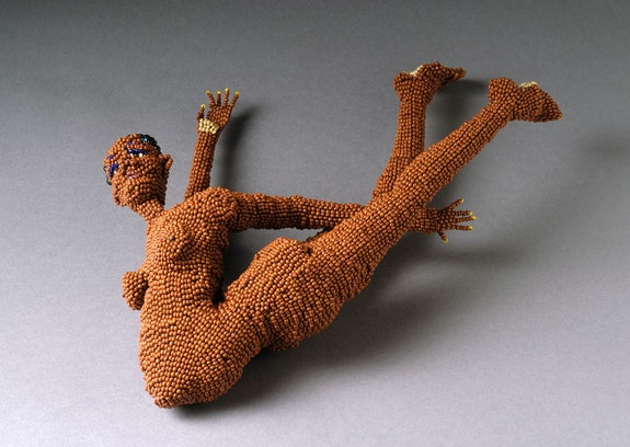 Joyce J. Scott, from the <em>Day After Rape Series: Congo III</em>, 2008. Seedbeads and thread, 3 3/4 x 9 x 12 1/2 inches. Courtesy the artist and Peter Blum Gallery, New York.