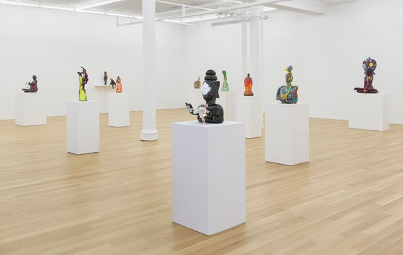 Joyce J. Scott, <em>What Next and Why Not</em>, Peter Blum Gallery, New York, 2018. Photo: Etienne Frossard.