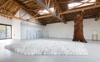 Ai Weiwei, <em>Cao / Humanity</em>, installation view, 2018. Courtesy UTA Artist Space, Los Angeles.