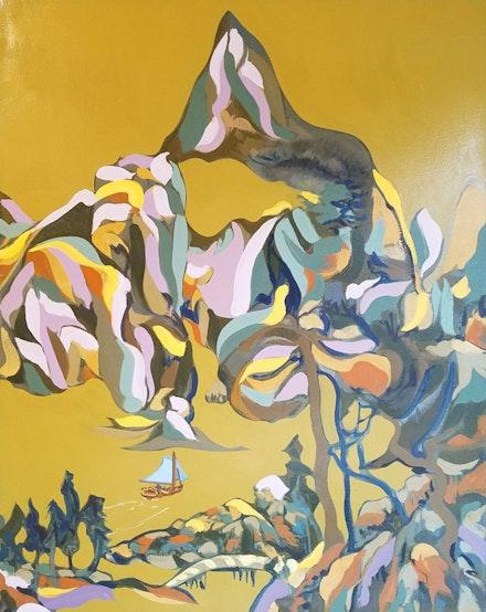 Miguel Trelles,<em> Son of Siboney</em>, 2014. Oil on linen. Courtesy DaSilva Gallery, New Haven.