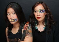<i>Slanty Eyed Mama (left to right):  Lyris Hung and Kate Rigg. Photo: Helen Tansey.</i>