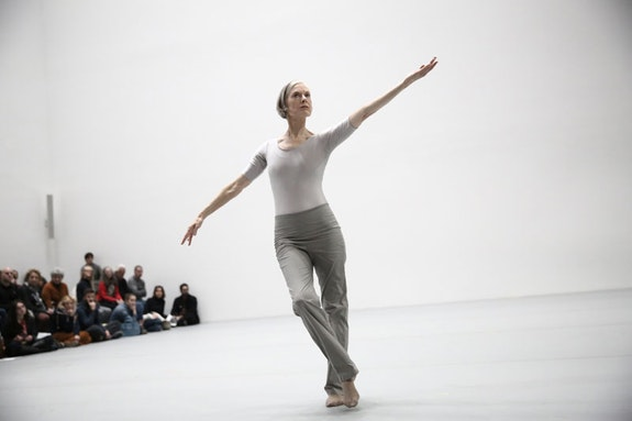 Lucinda Childs. <em>Particular Reel</em>. 1973. Performed in Lucinda Childs: Early Works, 1963&ndash;78, as part of <em>Judson Dance Theater: The Work Is Never Done</em>, The Museum of Modern Art, New York, September 16, 2018&ndash;February 3, 2019. Performer: Lucinda Childs. Digital image &copy; 2018 The Museum of Modern Art, New York. Photo: Paula Court.