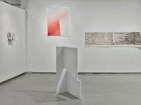 Installation view of<em> SPINE</em>, Ortega y Gasset Projects, 2018. Left to right: work by Anne Eastman, Cati Bestard, Shoshana Dentz. Courtesy Ortega y Gasset Projects.