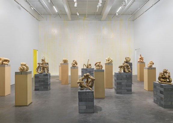 Sarah Lucas: <em>Au Naturel</em>, 2018. Installation view, New Museum, New York. Photo: Maris Hutchinson / EPW Studio.