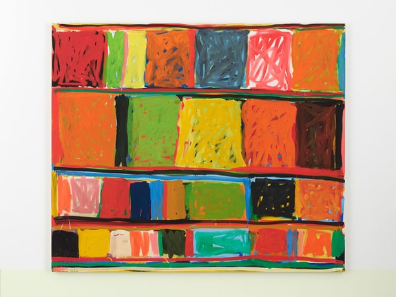 Stanley Whitney, <em>Untitled</em>, 1998. Oil on linen, 72 3/4 x 85 1/4 inches. © Stanley Whitney. Courtesy Lisson Gallery.
