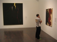 "Installation view of ""Clyfford Still Unveiled"" at the Denver Art Museum,"