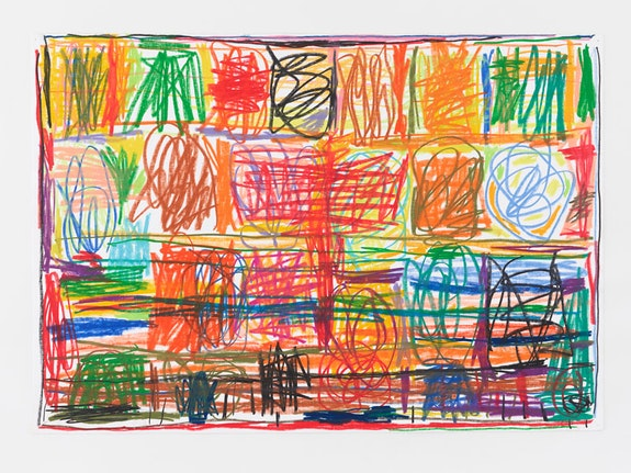 Stanley Whitney, <em>Untitled</em>, 2013. Crayon on paper, 19 x 29 inches. © Stanley Whitney. Courtesy Lisson Gallery.